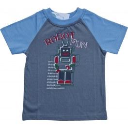 T-SHIRT ROBOT SZARY